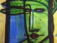 portrait-tech-mixte-sur-papier-kraft-50-x-40-cm