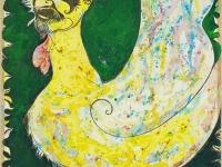 autoportrait-aviaire-2006-emulsion-et-encre-de-chine-sur-papier-maroufle-sur-toile-120-x-80-cm