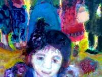 n2-la-petite-marchande-de-marionnettes-acryl-sur-toile-50-x-70-cm