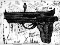 pistolet-1-encre-sur-papier-24x32-cm