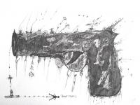 pistolet-2-encre-sur-papier-24x32-cm
