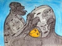 rash7-2017-41x30-cm-pastel-et-stylo-a-bille-sur-papier